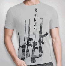 Load image into Gallery viewer, 2008/2009 Men's Grey Guns Up Tee