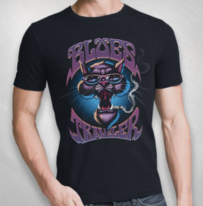 Men's Purple Cat Tee- Front Only