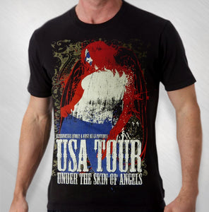 2011 Men's Black Under The Skin Of Angels Tour Tee