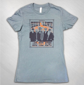 Women's Blue 2015 Wanted Photo Tour Tee