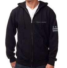 Load image into Gallery viewer, Black Triangles Zip-Up Hoodie