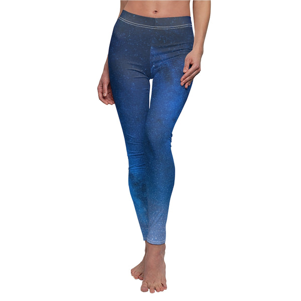 Night Sky and Stars Women's Cut & Sew Casual Leggings