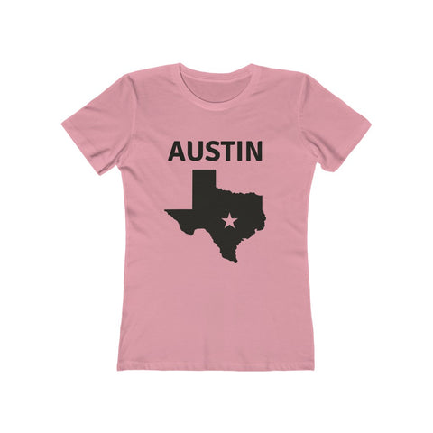 Austin Texas map Women's The Boyfriend Tee