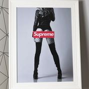Supreme Fishnet Girl Artwork