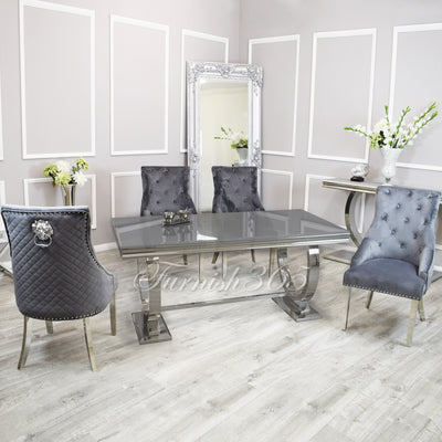 1.8m | Grey Glass | Arianna Dining Set | Bentley Chairs