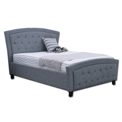 Toronto 1611 Double Bed Dark Grey