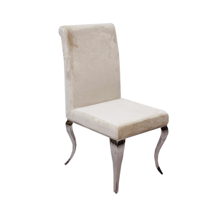 Dining Chair B003 Cream Soft Velvet