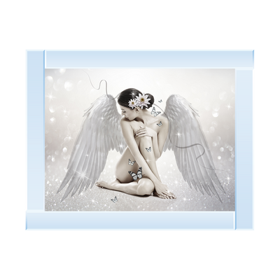 White Angel Facing Over Shoulder 96 x 76