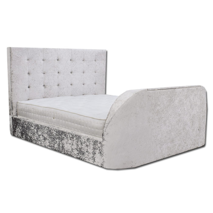 MB02 Super King TV Bed 2016-22 Cream