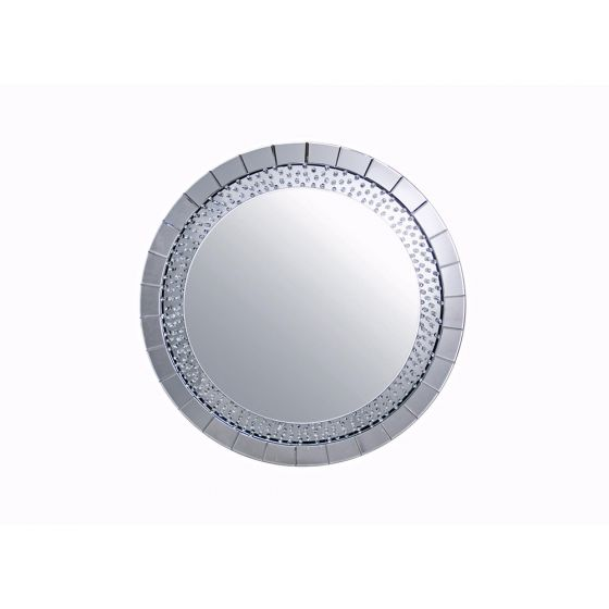 Round Floating Crystal Mirror
