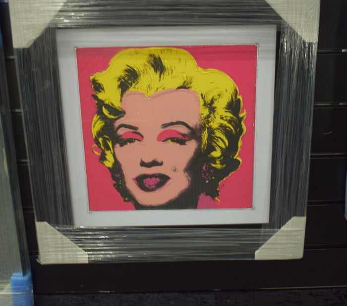 Marilyn Monroe Pop Art In Black Venice Frame
