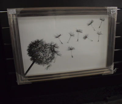 Dandelion White Small Artwork