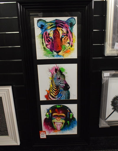 Tiger, Zebra, Monkey Murciano Trio Artwork