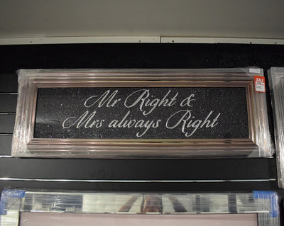 Mr Right & Mrs Always Right Artwork Sign