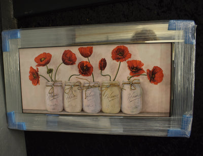 Home Jars with Poppies Artwork