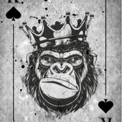 Monkey Crown K Playing Card