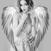 Lady Angel Facing Front Artwork