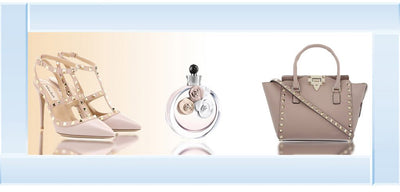 Shoe/Perfume/Bag Trio