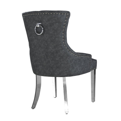 Megan Chair (Plain Back, Plain Knocker) - Leather