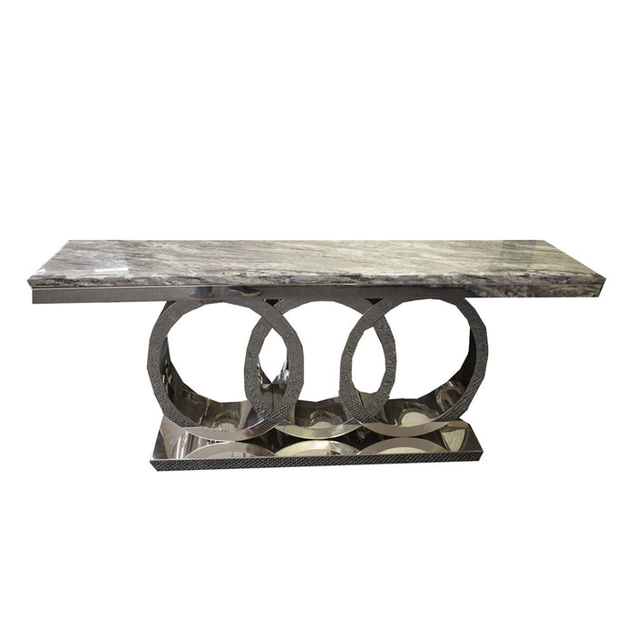 Audi Coffee Table Frame 130 x 70 Complete With Dark Grey Marble Top 348-3