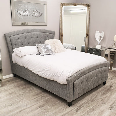 Toronto 1611 Double Bed Light Grey