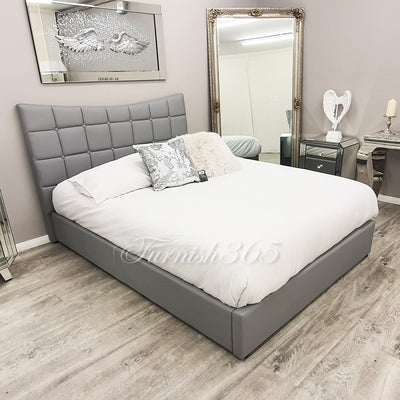 Verona 1701 Double Bed Grey