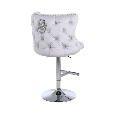 Chelsea Button Back Lion Knocker Bar Stool