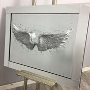 Angel Wings On Mirror 95 x 75