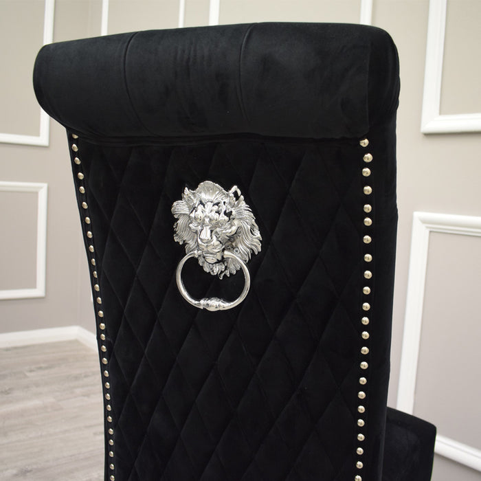Emma Chair (Quilted Back, Lion Knocker) - ALL COLOURS