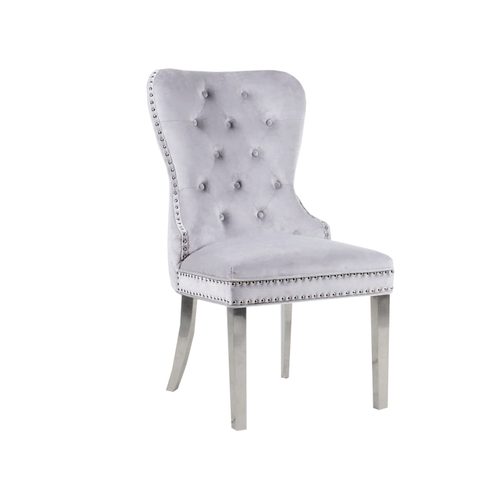 Mayfair Chair (Quilted Back, Lion Knocker) - ALL COLOURS