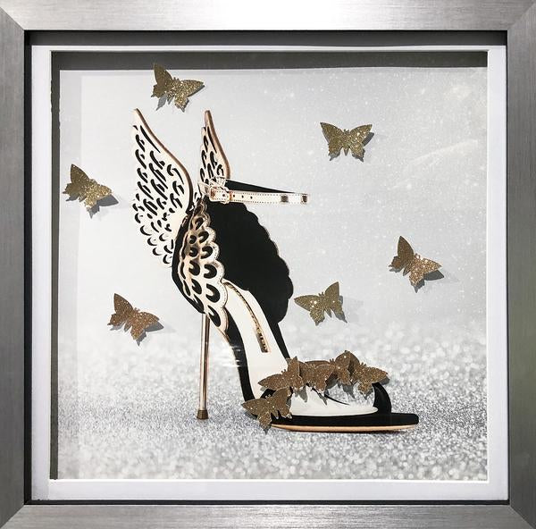 Sophia Webster Shoe With 3D Butterflies In Silver