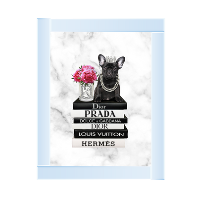 Black Frenchie On Books 65 x 55