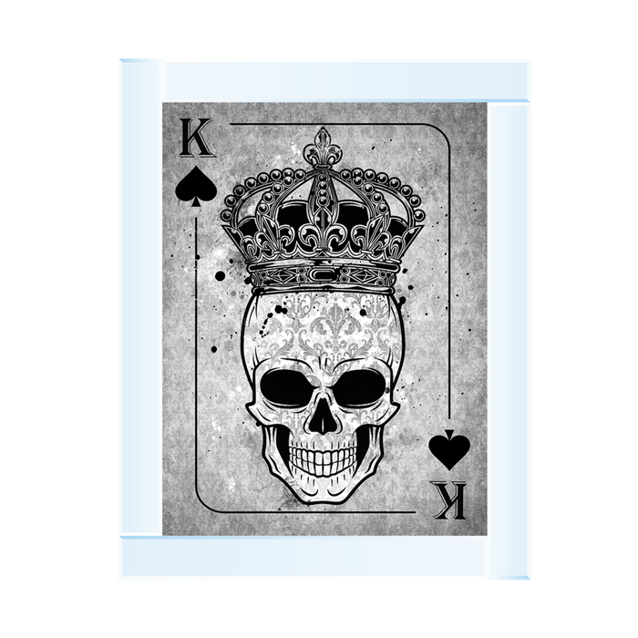 Skull Crown K Playng Card