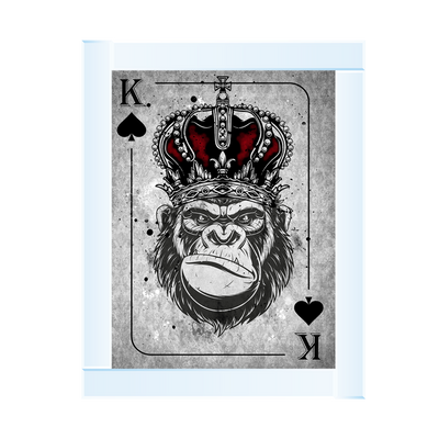 Monkey Crown K Playing Card 65 x 55