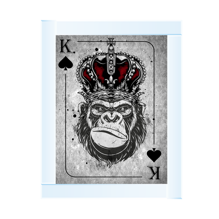 Monkey Crown K Playing Card 95 x 55 (MS180)