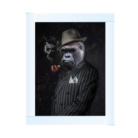 Gangster Gorilla With Pipe 95 x 75
