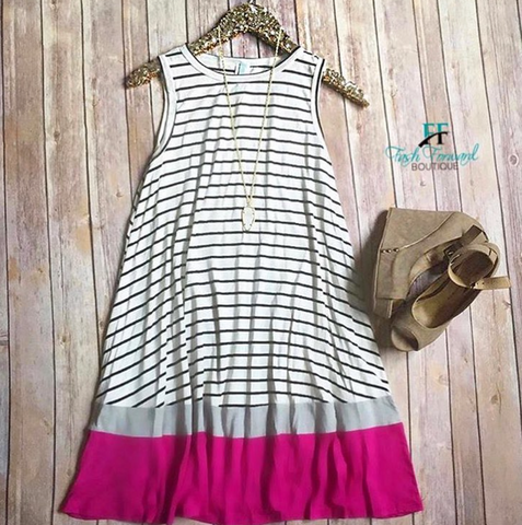 Stripes and Color Dress