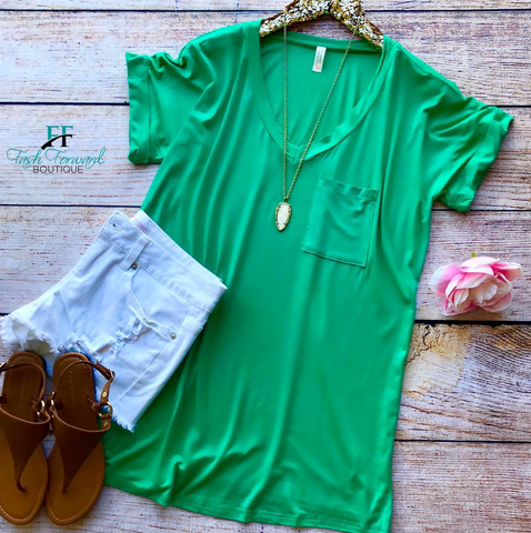 Lazy Days Tee - Kelly Green