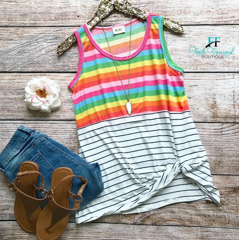 Rainbow Effect Top