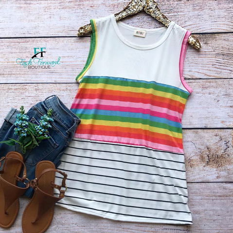 SALE: Colorful Times Top