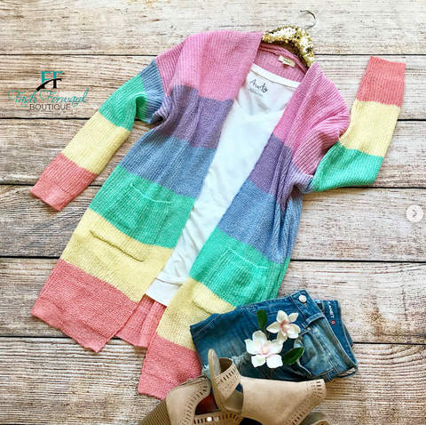 Dream Land Rainbow Cardigan