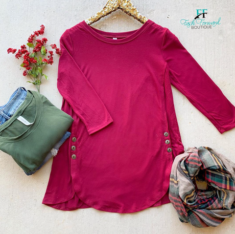 DOTD: Caroline Button Tunic Top