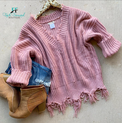 Carly Distressed Sweater