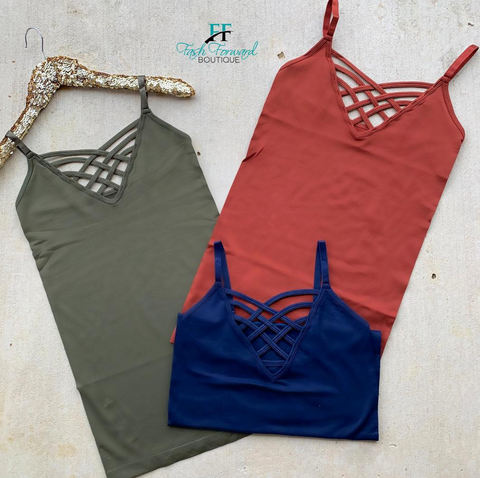 The Sophia Criss Cross Tank