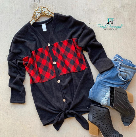 SALE: Great Times Plaid Top