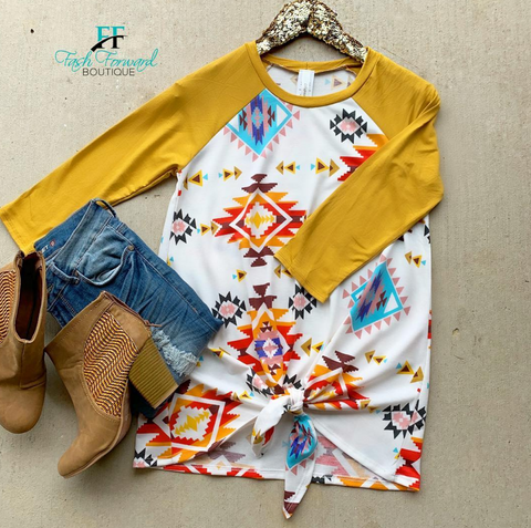 Aztec Dreams Mustard Top