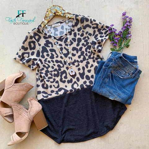 Moving on Leopard Top