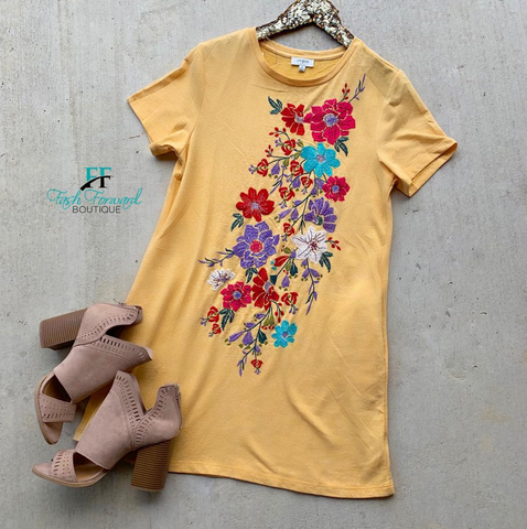 Long Days Yellow Floral Dress