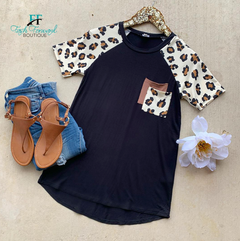 Meet Me Here Leopard Top