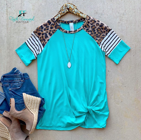 On the Run Leopard Top